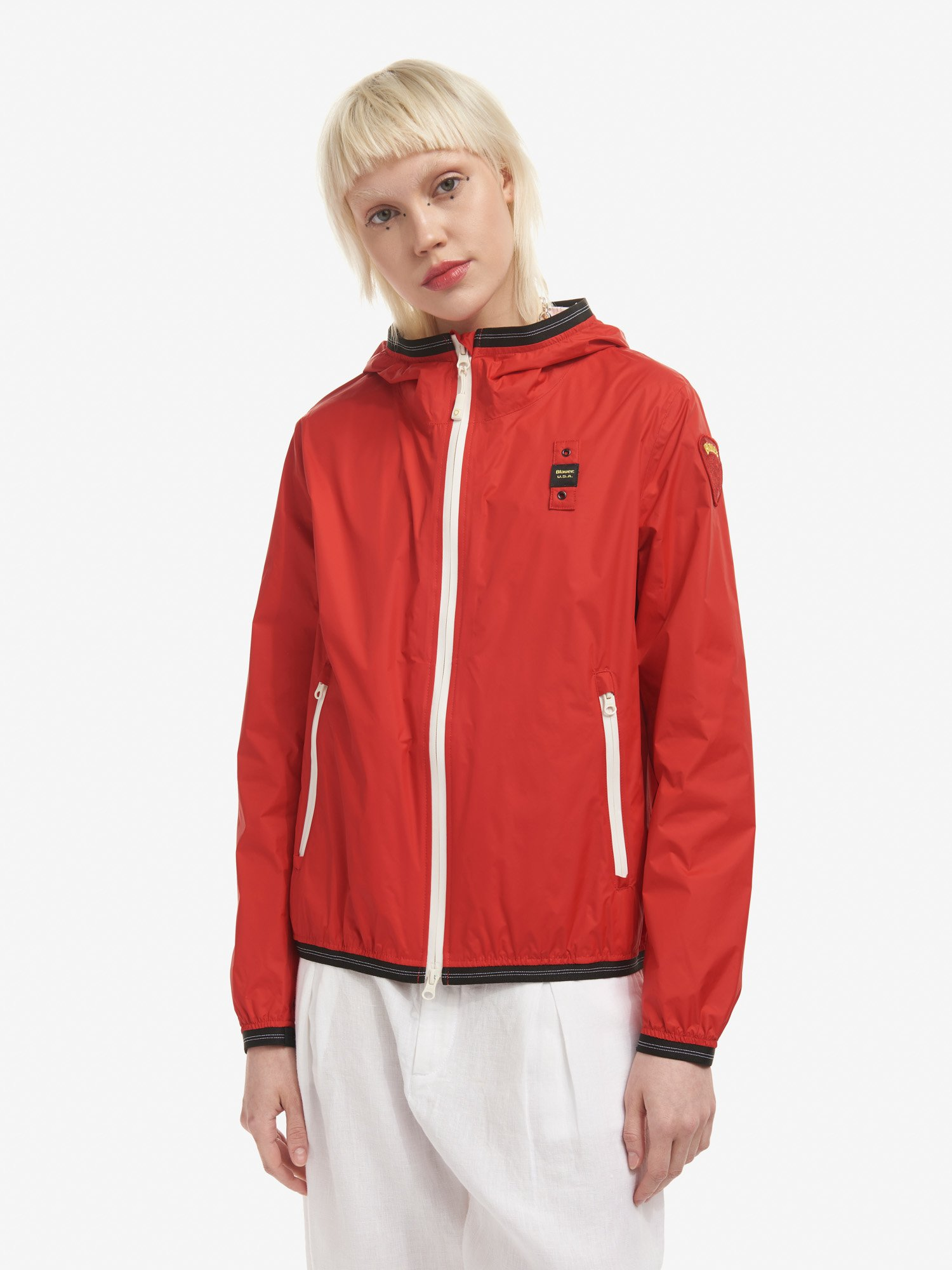 Blauer - TRACY UNLINED WINDBREAKER - Bright Red - Blauer