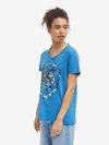 Blauer - T-SHIRT WITH 3D FASHION SHIELD - Light Sapphire Blue - Blauer