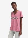 Blauer - BLAUER FLORAL T-SHIRT - Pink Heather - Blauer