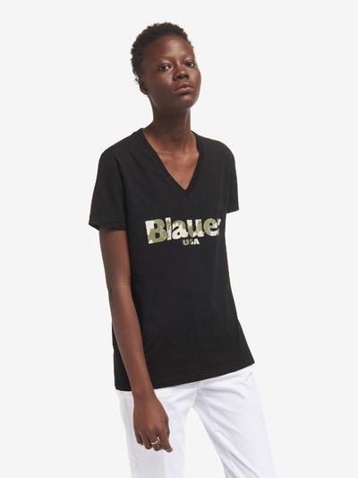 BLAUER FLORAL T-SHIRT