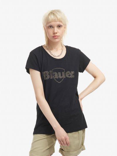 T-SHIRT BLAUER STRASS