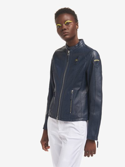 EDITH PERFORATED AND LINED BIKER JACKET