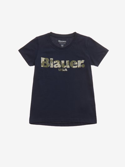 T-SHIRT BAMBINA BLAUER FLOREALE