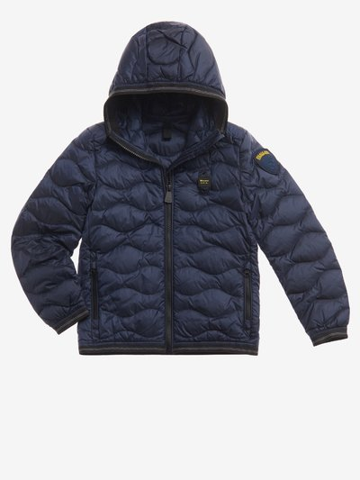 ALVIN WAVE-QUILTED DOWN JACKET WITH HOOD