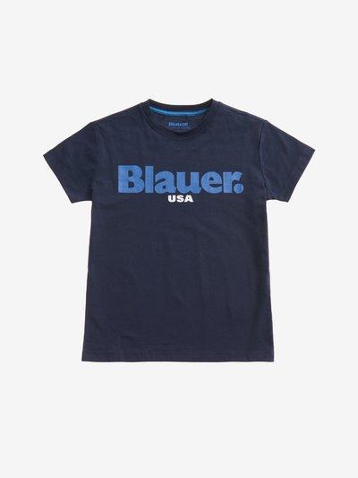 T-SHIRT BAMBINO BLAUER USA