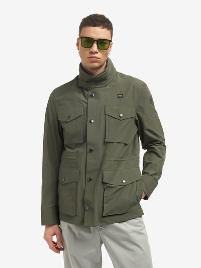 FIELD JACKET IN COTONE TECNICO OSCAR