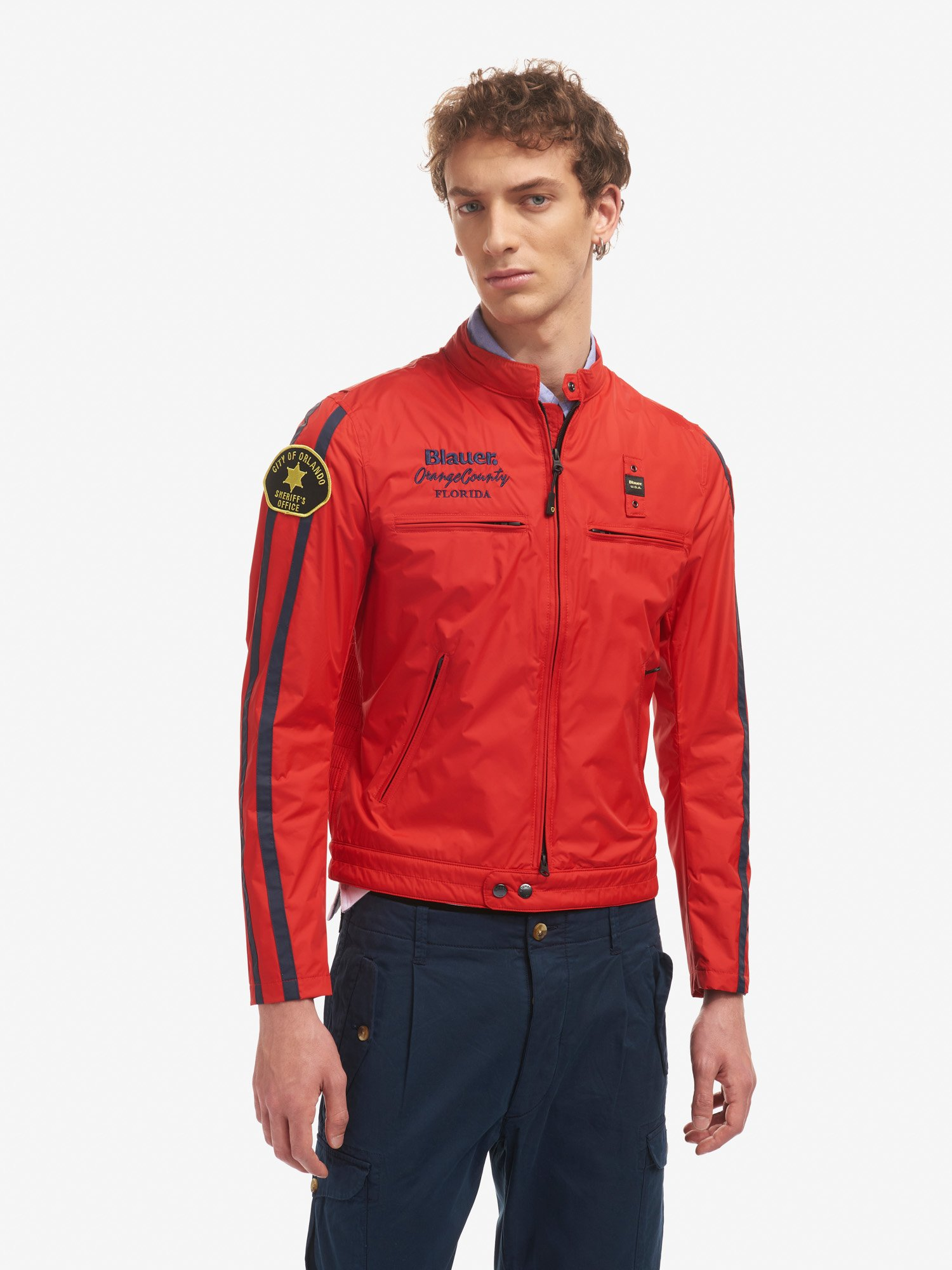 Blauer - MICHAEL BLAUER ORANGE COUNTY JACKET - Bright Red - Blauer