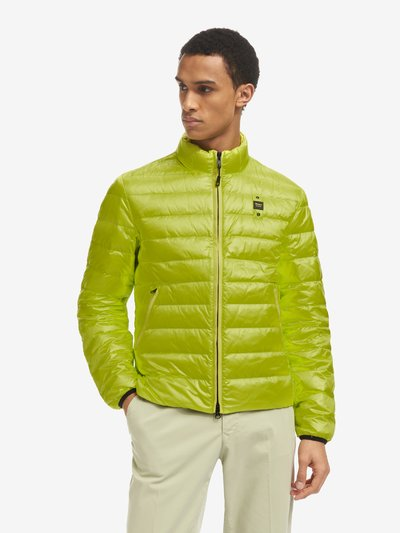 CHAD SHINY COLOURED STRIPED DOWN JACKET