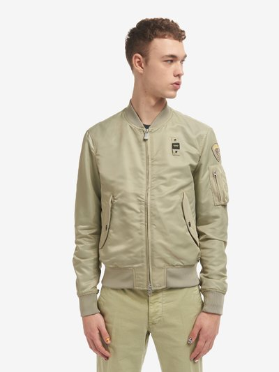 MARCUS UNLINED SATIN BOMBER JACKET