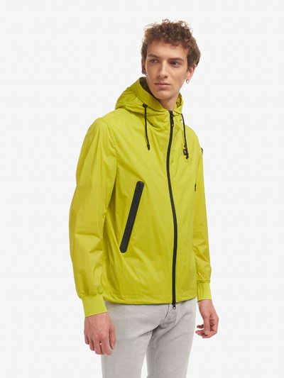 ALFRED STRETCH UNLINED JACKET WITH HOOD
