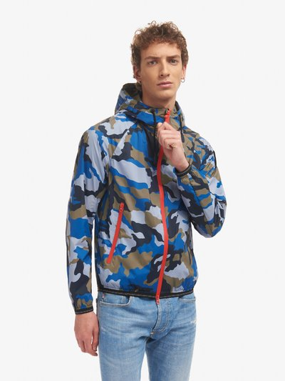 EDWIN STRETCH CAMOUFLAGE JACKET WITH HOOD