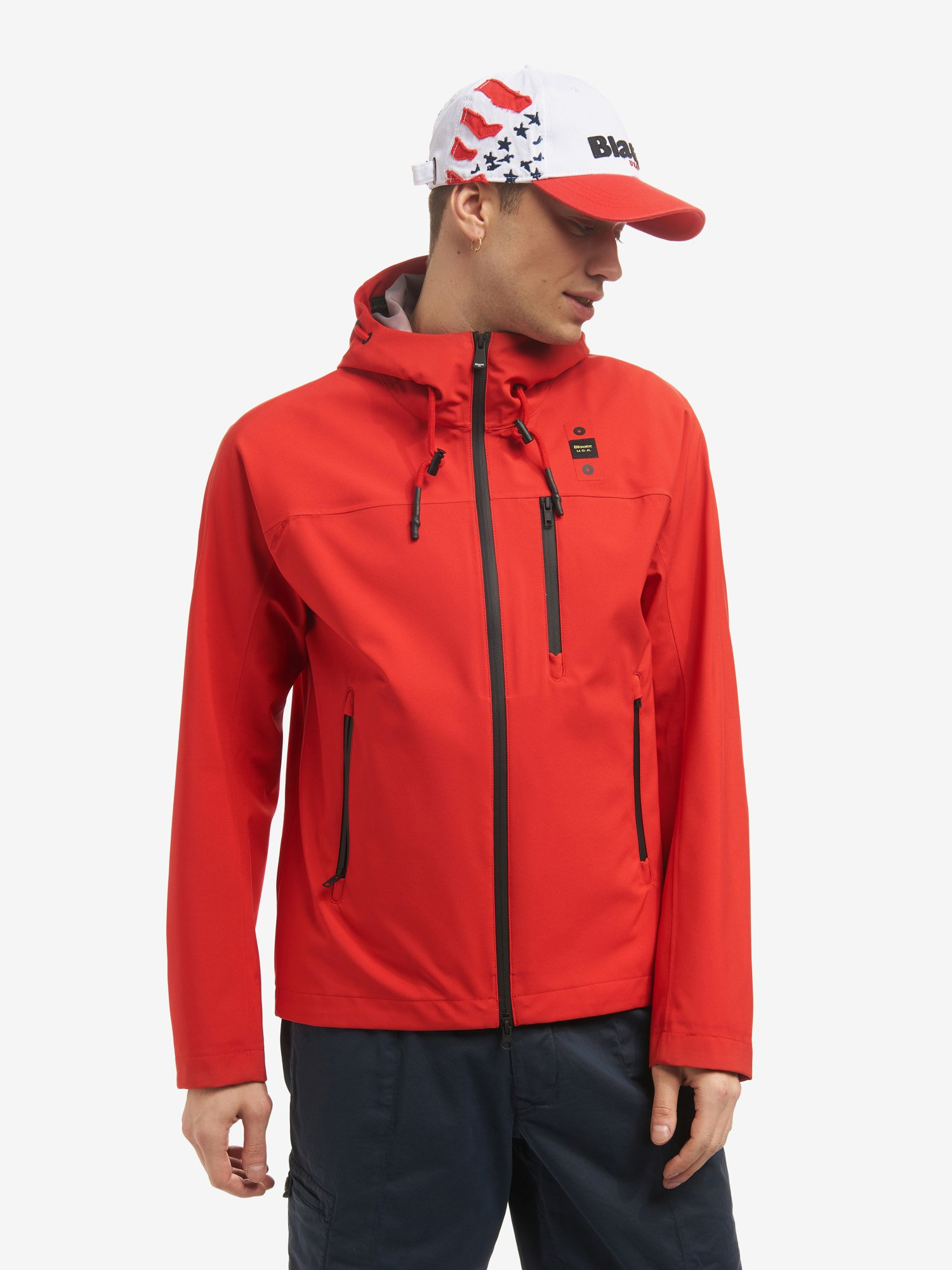 Blauer - STRETCH-KAPUZENJACKE AUS NEOPREN DON - Bright Red - Blauer