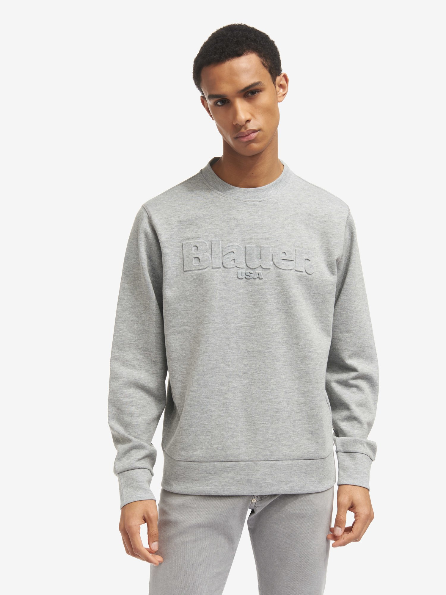 TWO-TONE CREW NECK SWEATSHIRT - Blauer