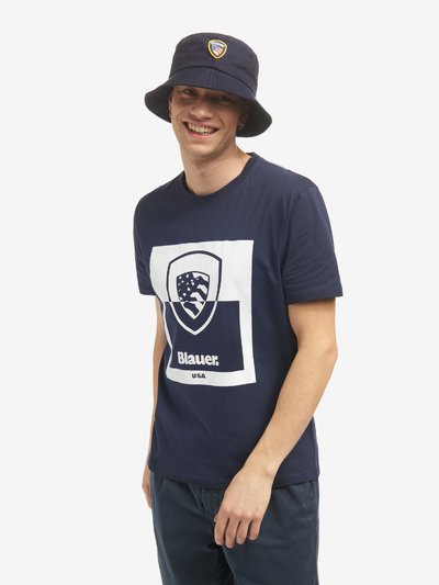 TWO-TONE SHIELD T-SHIRT