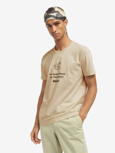 T-SHIRT COTONE ORGANICO YOU AREN'T ALONE
