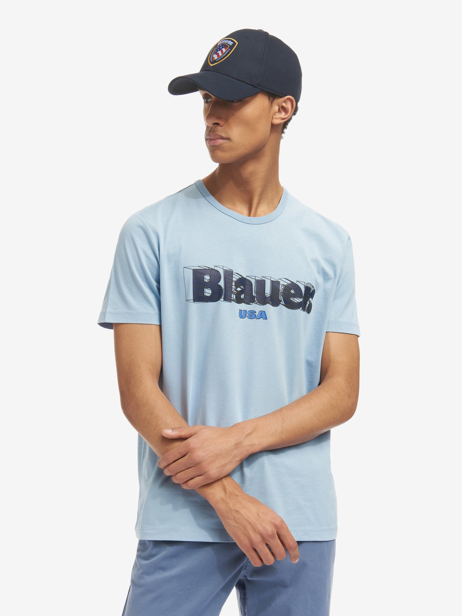 Blauer - ФУТБОЛКА BLAUER 3D - Deep Blue - Blauer