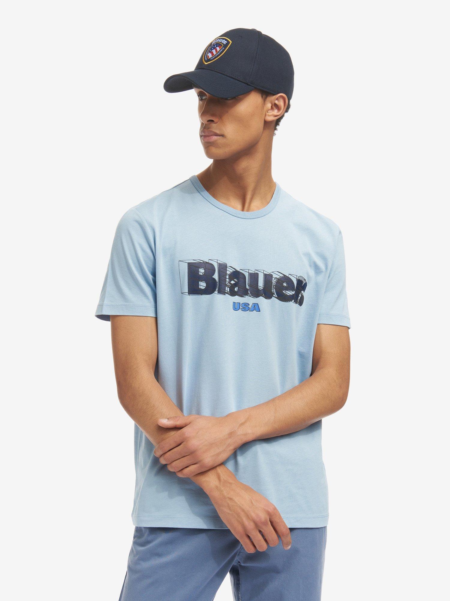 Blauer - T-SHIRT BLAUER 3D - Deep Blue - Blauer
