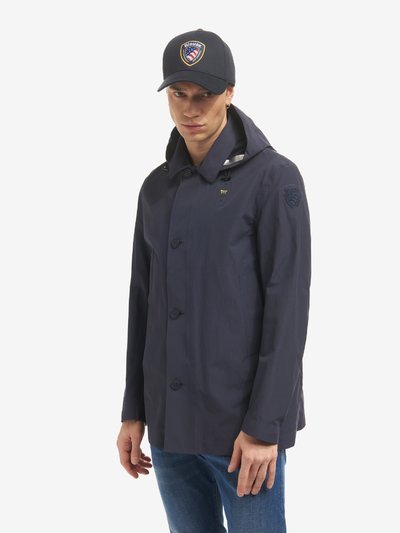 JAY MEN'S TRENCH COAT IN TECHNICAL COTTON