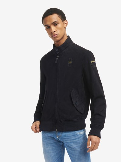 RONNIE LINED SUEDE BOMBER JACKET