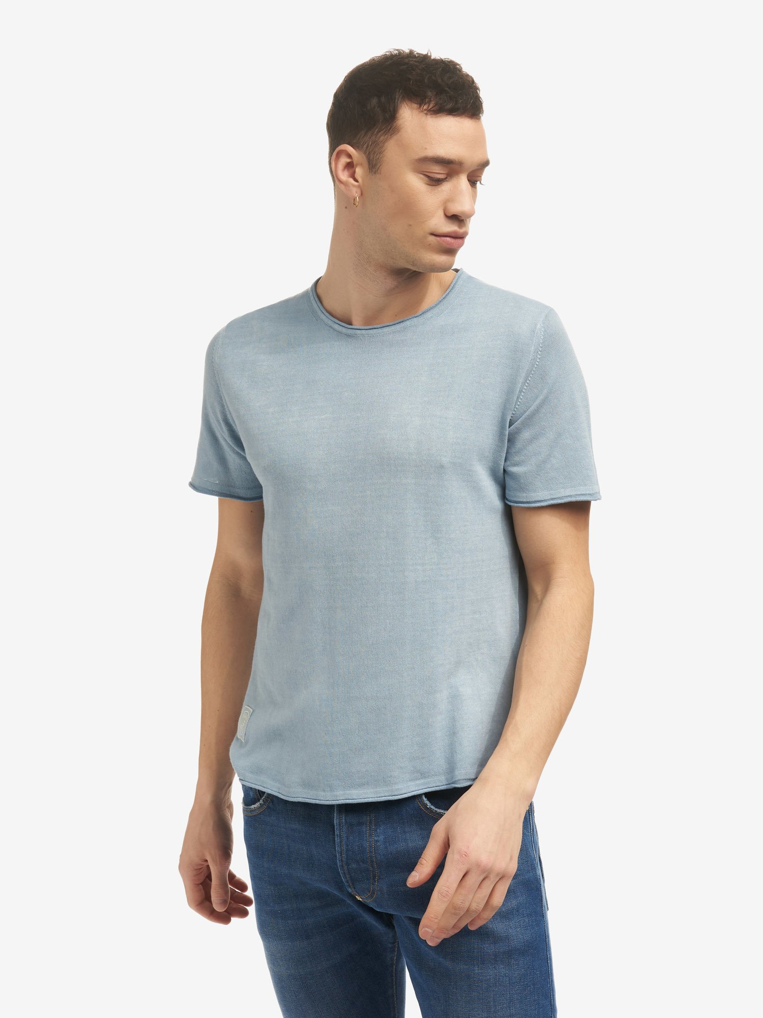 PULL COL ROND MANCHES COURTES - Blauer