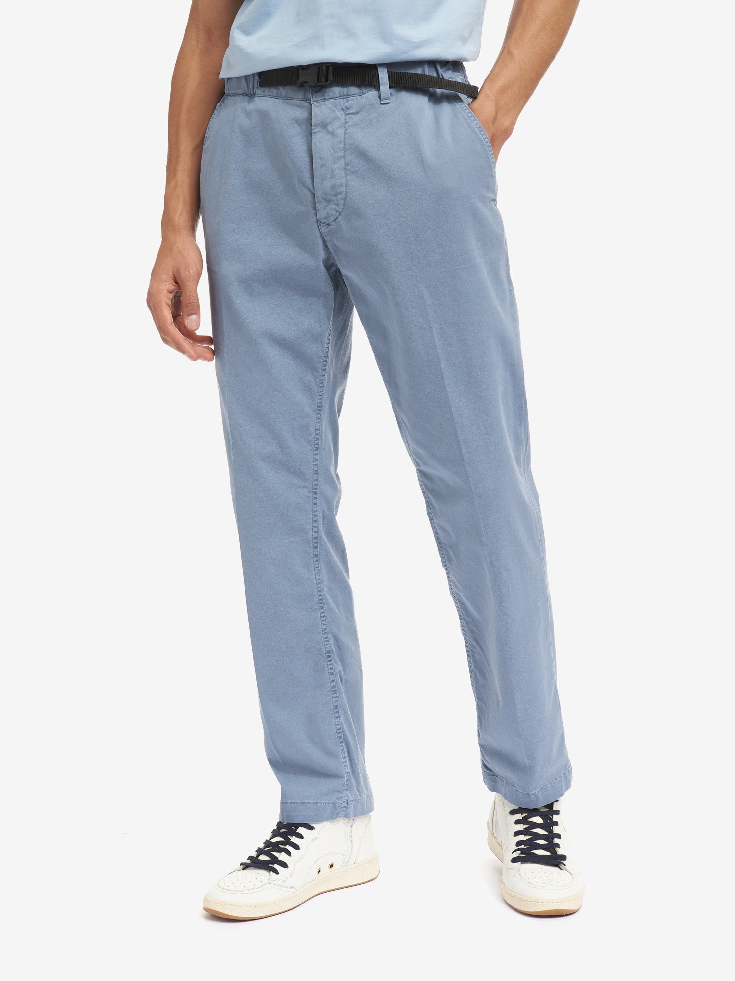 Blauer - TROUSERS WITH BUCKLE - Deep Blue - Blauer