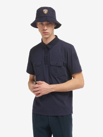 JERSEY POLO SHIRT WITH TWO POCKETS