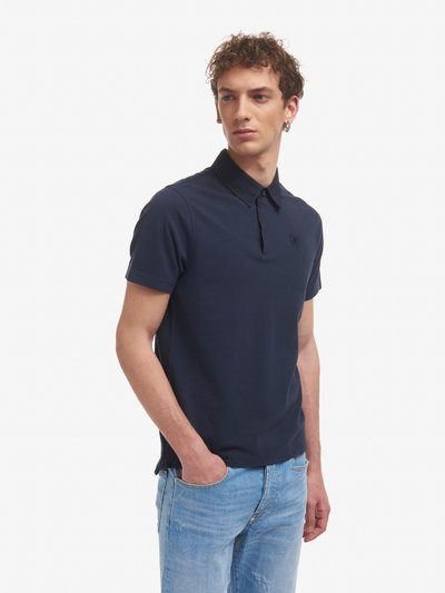 POLO SHIRT WITH POPLIN COLLAR