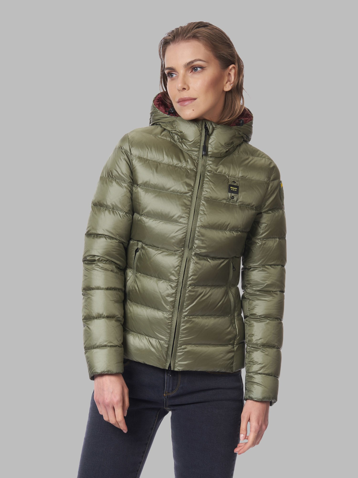 EMMA QUILTED DOWN JACKET WITH HOOD - Blauer