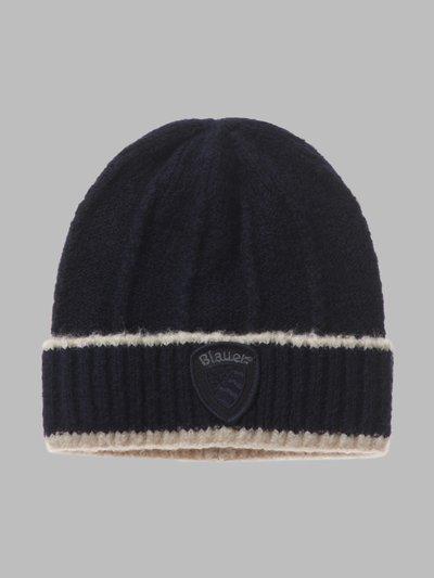 STRIPED CAP - Blauer
