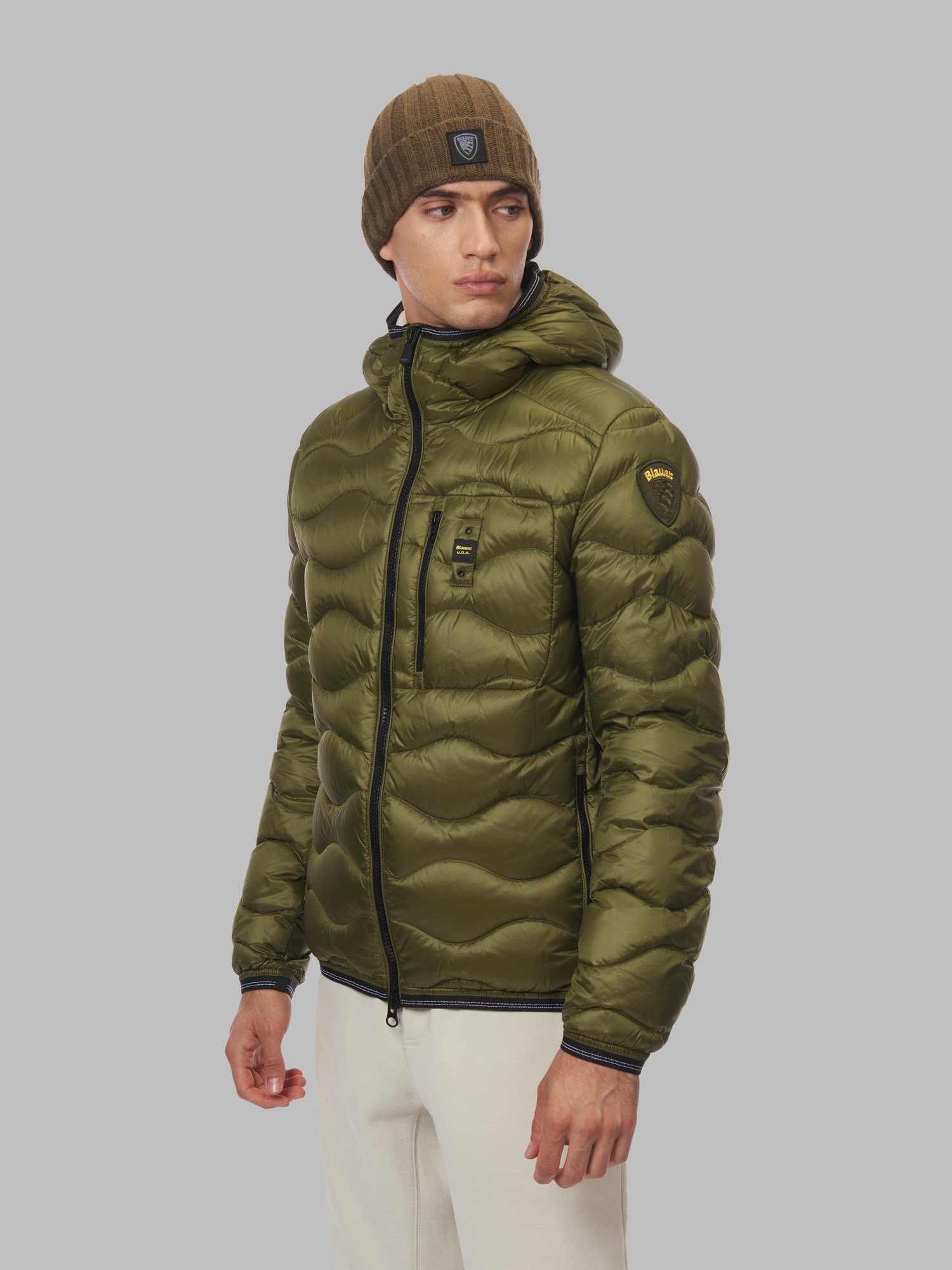 MAURICE WAVE-QUILTED DOWN JACKET - Blauer