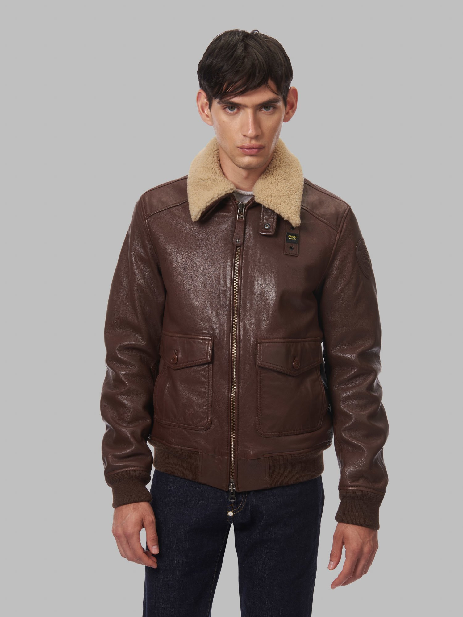 ANDRE BOMBER JACKET WITH FUR - Blauer