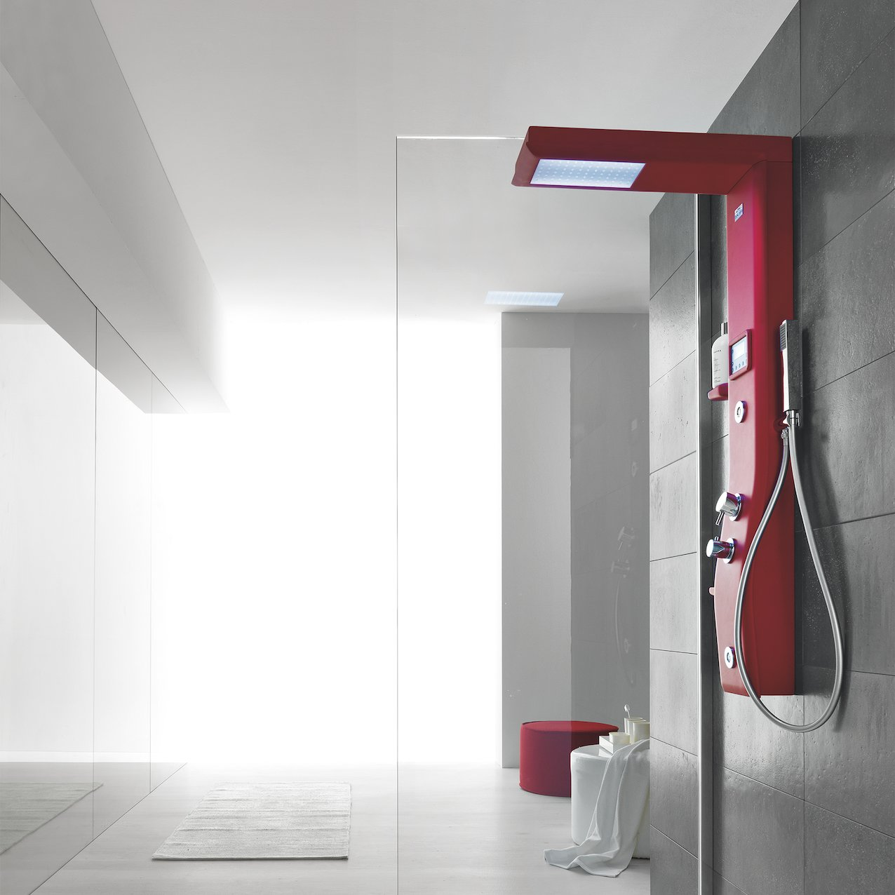 Shower Column - Red