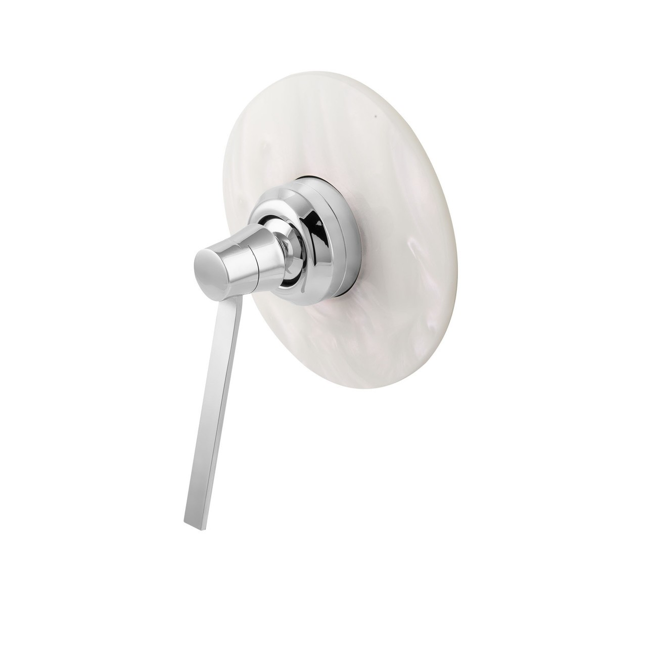 Built-in shower mixer Perle white pearl