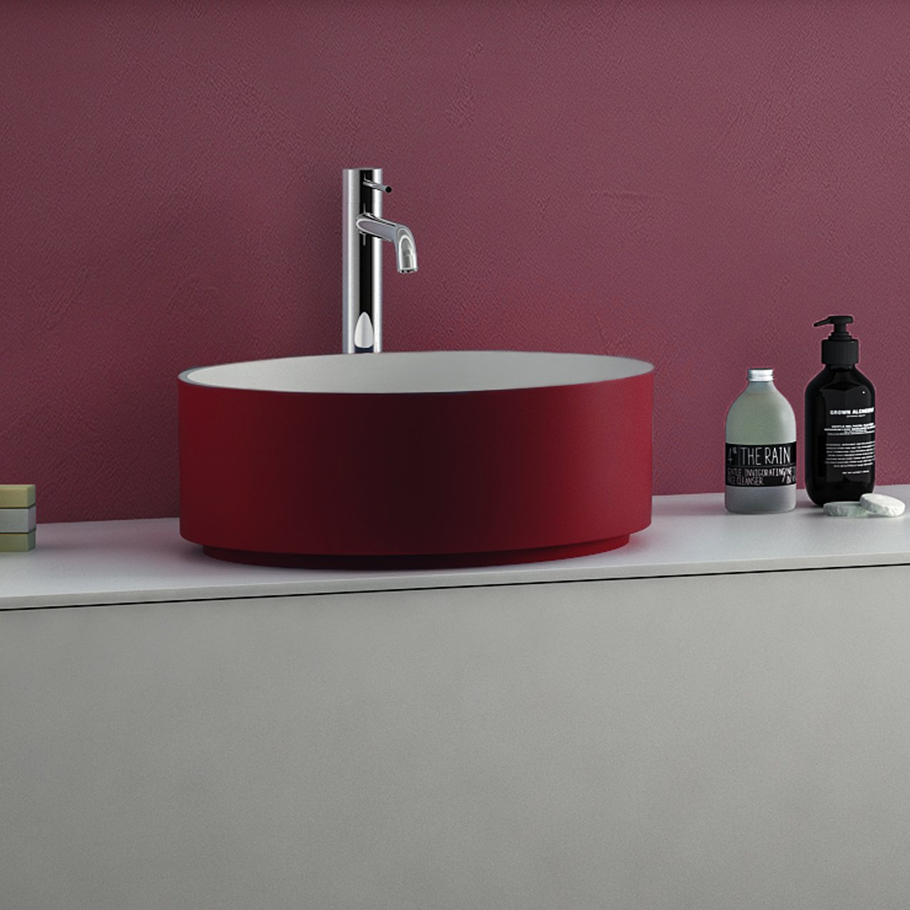 Tecnoril countertop washbasin