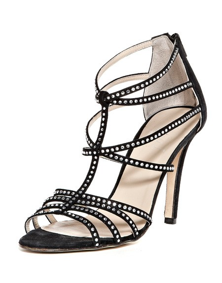 Crystal Embellished Leather Sandals