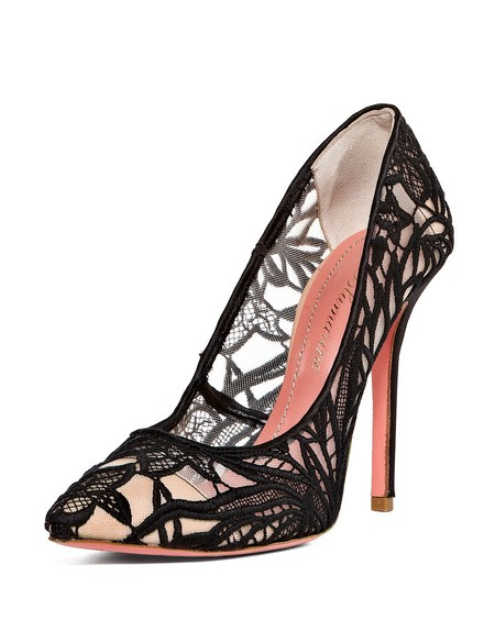 Macramé Lace Pumps