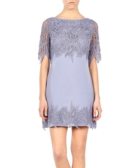 Macramé Lace Appliqued Stretch-knit Dress