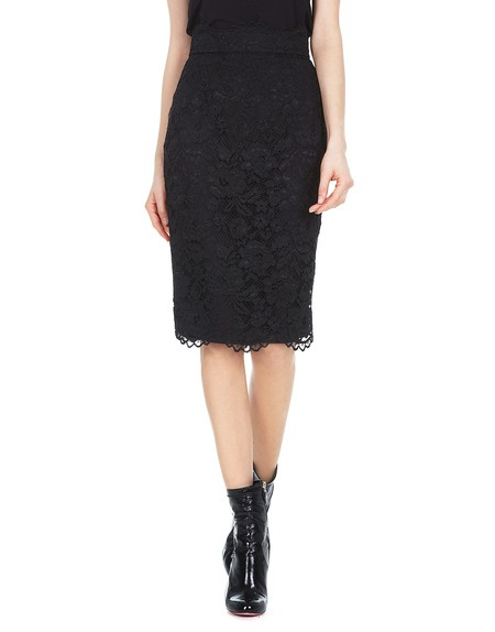 Macrame Lace Pencil Skirt