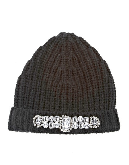 Crystal Embroidered Wool And Cashmere Beanie