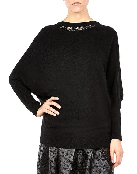 Crystal-embellished Cashmere-blend Sweater