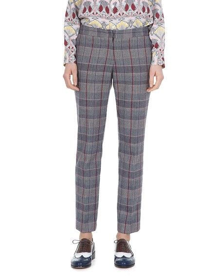 Prince of Wales Cigarette Pants