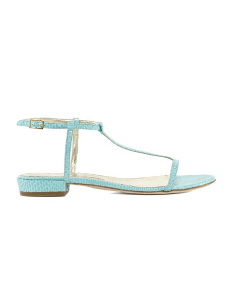Leather Strapped Flat Sandal