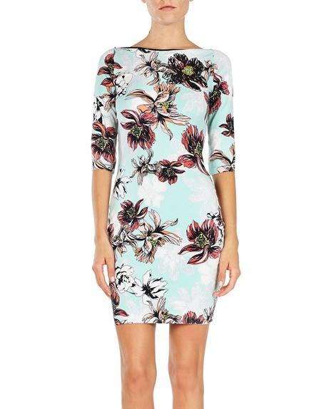 Elasthan-Kleid mit Print