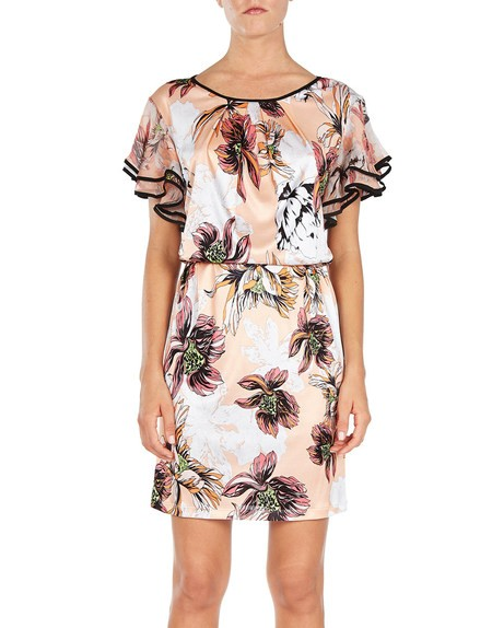 Printed Jersey Mini Dress