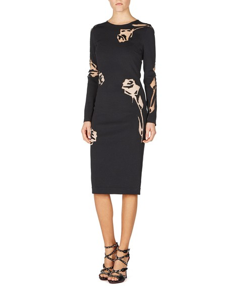 Floral Devoré Sheath Dress