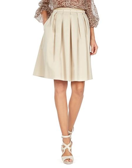 Falda de Algodón Con Pliegues