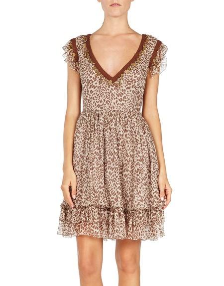 Leopard-print Chiffon Dress