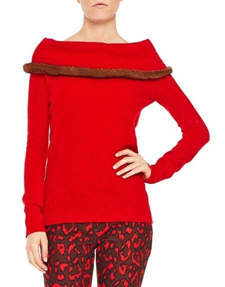 Pullover aus Wolle und Kaschmir mit Nerz
