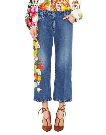 Handbemalte Boyfriend-Jeans