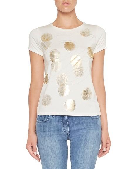 T-Shirt mit beschichteten Tupfen